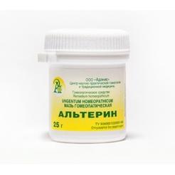 Мазь гомеопатическая «АЛЬТЕРИН» 25гр.